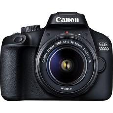 Digital EOS 3000D with lens EF-S 18-55mm III DC