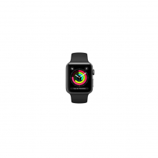 APPLE WATCH SERIES 3 GPS 42MM SPACE GREY ALUMINIUM CASE WITH BLASK SPORT BAND [MTF32ID/A]