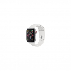 APPLE Watch Series 4 GPS, 44mm Silver Aluminum Case with White Sport Band [MU6A2ID/A]
