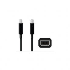 APPLE THUNDERBOLT CABLE (2.0 m) - BLACK [MF639ZM/A]