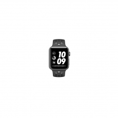 APPLE WATCH SERIES 3 GPS 42MM SPACE GREY ALUMINIUM CASE WITH ANTHRACITE/BLACK NIKE SPORT BAND [MTF42ID/A]