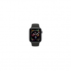 APPLE Watch Series 4 GPS, 44mm Space Gray Aluminum Case with Black Sport Band [MU6D2ID/A]