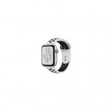 APPLE Watch Nike+ Series 4 GPS, 44mm Silver Aluminum Case with Pure Platinum/Black Nike Sport Band [MU6K2ID/A]