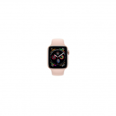 APPLE Watch Series 4 GPS, 44mm Gold Aluminum Case with Pink Sand Sport Band [MU6F2ID/A]