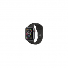 APPLE Watch Series 4 40mm Space Gray Aluminum Case with Black Sport Band [MU662ID/A]