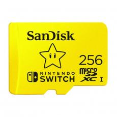 SANDISK AND NINTENDO SWITCH 256GB MICROSDXC MEMORY CARD [SDSQXAO-256G-GNCZN]