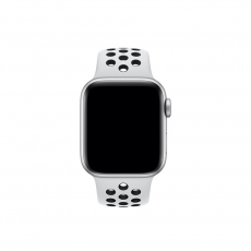 APPLE 44MM SPORT BAND  S/M & M/L [MTMY2FE/A] PURE PLATINUM/BLACK NIKE