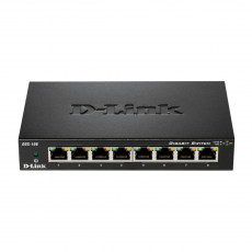 D-LINK 8-PORT GIGABIT DESKTOP SWITCH IN METAL CASING [DGS-108]