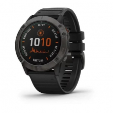 FENIX 6X SOLAR TITANIUM CARBON GRAY DLC WITH BLACK BAND [AGA-010-02157-55]
