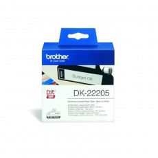 BROTHER TAPE LABEL CONTINUOUS BLACK ON WHITE DK-22505 [DK-22505]