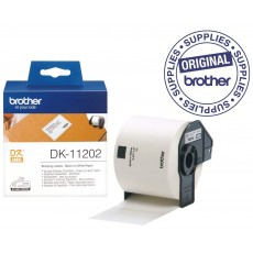BROTHER TAPE LABEL DIE-CUT BLACK ON WHITE DK-11202 [DK-11202]
