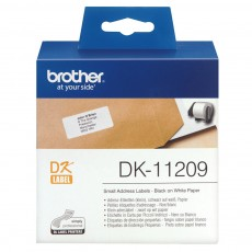 BROTHER TAPE LABEL DIE-CUT BLACK ON WHITE DK-11209 [DK-11209]