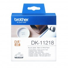 BROTHER TAPE LABEL DIE-CUT BLACK ON WHITE DK-11218 [DK-11218]